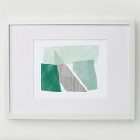 "Blocks Art Print - Emerald / 5x7"", 8x10"", 11x14"" / 100% Cotton Rag Paper"