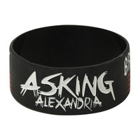 Asking Alexandria Break Down The Walls Rubber Bracelet