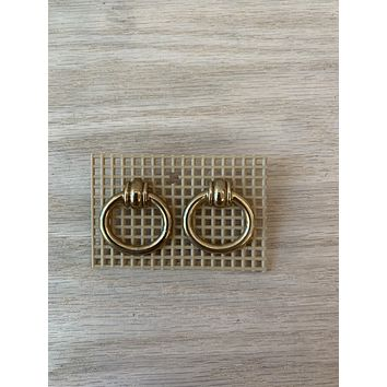 Vintage Brass Stud Knocker Earrings