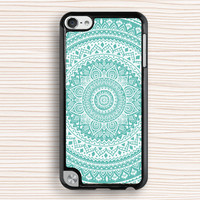 ipod case,blue mandala ipod 4 case,best gift ipod cover,blue flower ipod 5 case,floral ipod touch case,mandala flower ipod 4 case