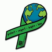 Official Support Our Planet EARTH RIBBON Magnet / Car Magnet