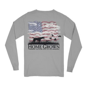 USA Point the Way Home Long Sleeve Tee by Southern Fried Cotton