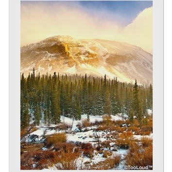 "Nature Photography - Mountain Glow 9 x 10.5"" Rectangular Static Wall Cling by TooLoud"