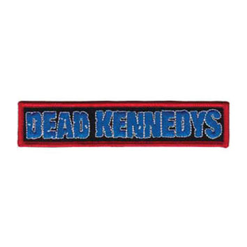 Dead Kennedys Men's Blue Logo Embroidered Patch Black
