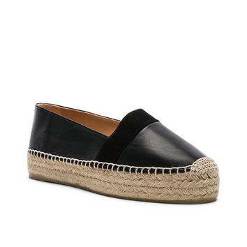 Castaner Leather Kikuyu Espadrilles in Black | FWRD