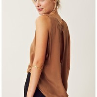 Maurie and Eve Onyx Loop Back Top