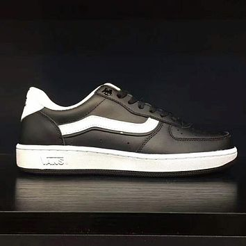 VANS Classic Leather Old Skool Flats Shoes Sneakers Sport Shoes Black  I-AD-CXLM