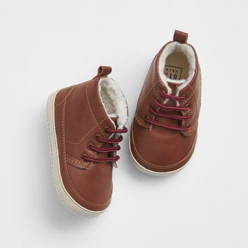 Leather Sherpa-Lined Boots | Gap