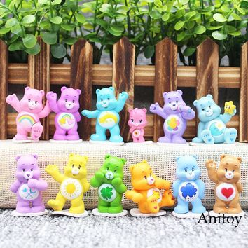 12pcs/set Kawaii Care Bears