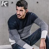 Men Casual Sweater O-Neck  Slim Fit Knitting  Sweaters And Pullovers