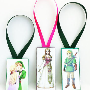Zelda And Link Bookmark //  Zelda and Link Kiss // Legend of Zelda // Custom Bookmarks // Gamer Gifts // Zelda Fandom // Zelda Collectable