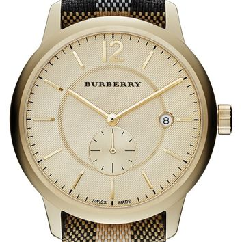 Burberry Textured Dial Watch, 40mm