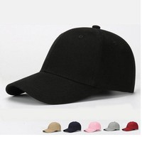 Dad Hat Solid Plain Washed Cotton Polo Style Retro Curved Blank Baseball Cap NEW