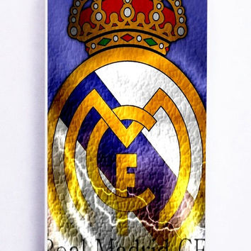 iPhone 5S Case - Hard (PC) Cover with Real Madrid Logo Plastic Case Design