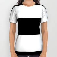 Black White Stripes All Over Print Shirt by deluxephotos