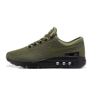 Best Deal Online Nike Air Max 87 Zero QS ESSENTIAL Army Green Black Men Running Shoes