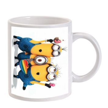 Gift Mugs | Despicable Me Dancing Minions Happy Ceramic Coffee Mugs