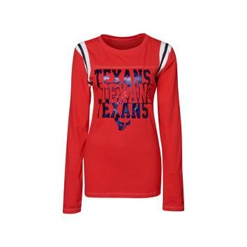 Houston Texans NFL Womens Baby Jersey Long Sleeve Crewneck