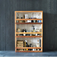 Apothecary Cabinet made of reclaimed Cypress and milkpaint