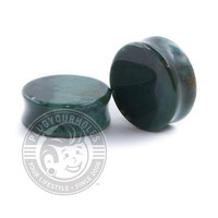 Green India Agate Stone Plugs