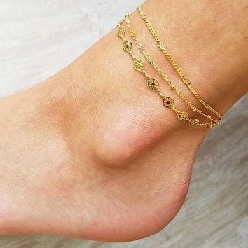 Layered Glam Anklet II