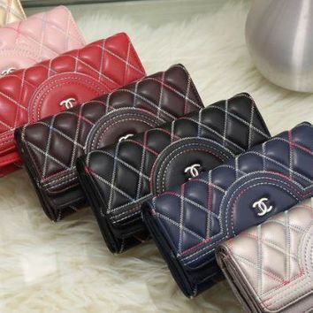 chanel 2017 new fashion leather Magnetic buckle Diamond lattice Cellphone bag [99351986191]