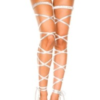 Metallic Leg Wrap Silver