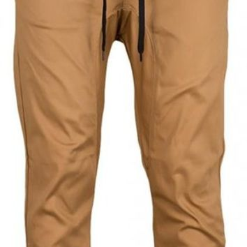 Kayden K Mens Slim Fit Harem Jogger Pants (34, Timber)