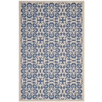 Ariana Vintage Floral Trellis 8x10 Indoor and Outdoor Area Rug - R-1142C-810