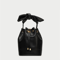 BUCKET BAG WITH KNOT DETAILS