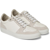 AMI - Textured-Leather and Suede Sneakers | MR PORTER