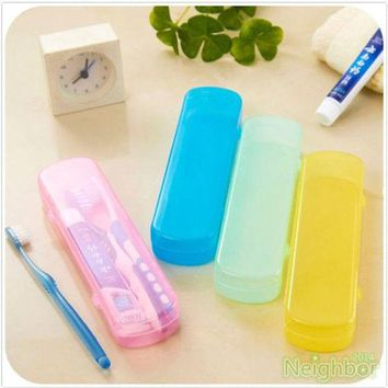 DCCKL72 Good Useful Travel Portable Toothbrush Toothpaste Storage Box Cover Protect Case