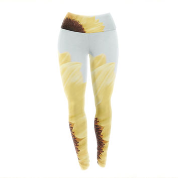 "Susannah Tucker ""Sunshine"" Sunflower Yoga Leggings"