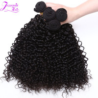 Online Shop 8A brazilian virgin hair kinky curly 3 bundles virgin brazilian curly hair cheap brazilian hair weave bundles natural color 1B | Aliexpress Mobile