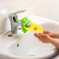 Cartoon Frog Bathroom Sink Faucet Water Chute Extender Children Kids  Washing Hands Guiding Convenient for baby Washing Helper