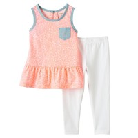 Carter's Flower Peplum Tunic & Leggings Set - Baby Girl, Size: