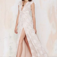 The Jetset Diaries Eternal Whispers Embroidered Dress - White