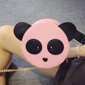 Cute panda monkey Women Bag Baby Girl Mini Shoulder Bag For Women Cross Body Bags Lady PU Leather Handbags Animal S35