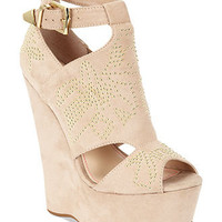Betsey Johnson Shoes, Laney Platform Wedge Sandals - Studs & Spikes - Shoes - Macy's