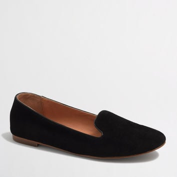 Factory suede Cora loafers