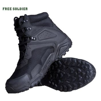 FREE SOLDIER outdoor sports camping hiking tactical military boots men ankle boots non-slip combat shoes for climbing