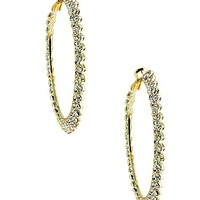 Women's Zig-Zag Rhinestone Earring in Gold by Daytrip.