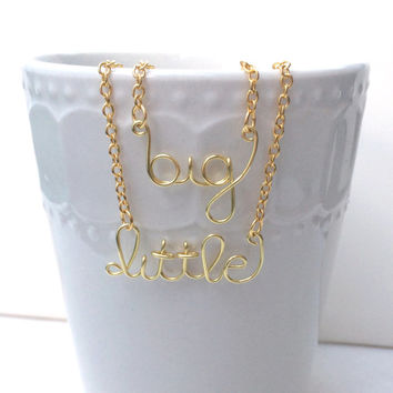 Big and Little Necklaces // Sorority // Sisters // Bid Gift // Silver Gold Copper