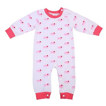 Toddler Baby Girls Elephant Sleepwear Pajamas Clothes Romper new arrival fashion Outfits Set