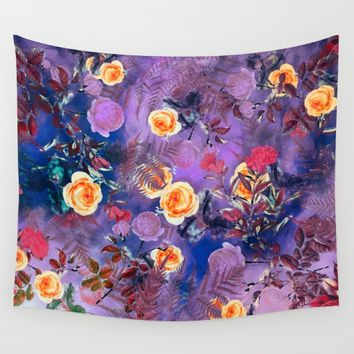 flowers purple Wall Tapestry by jbjart