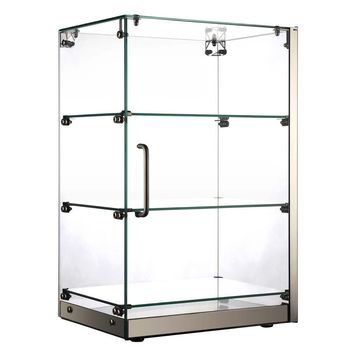 """Vertical Straight Glass Countertop Dry Display Case 16"""""""