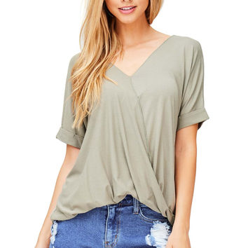 Lush Surplice Blouse