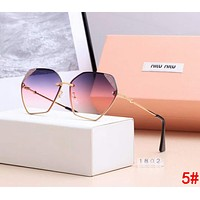 Miu Miu Fashionable Women Casual Summer Shades Eyeglasses Glasses Sunglasses 5#