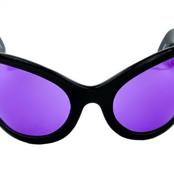 Purple Lens Oversized Sunglasses Sexy DJ Rave Fashion Glasses