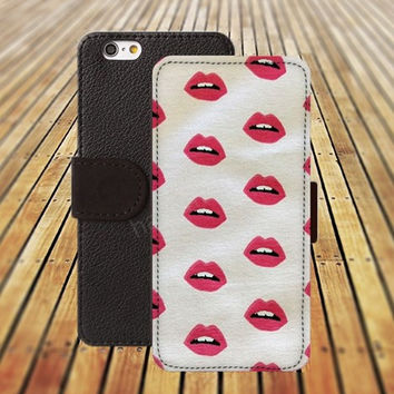 iphone 5 5s case kiss case iphone 4/ 4s iPhone 6 6 Plus iphone 5C Wallet Case , iPhone 5 Case, Cover, Cases colorful pattern L074